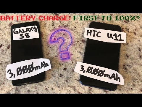 Samsung Galaxy S8 vs HTC U11 0-100% Battery Charge Test: 1st to 100%