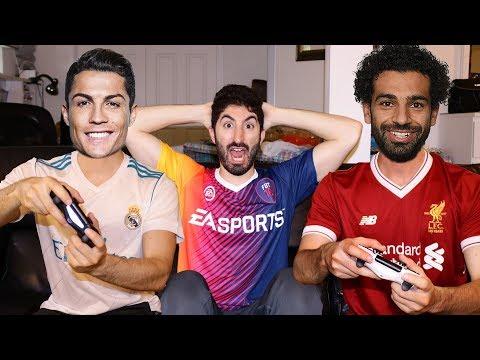 SALAH PLAYS RONALDO IN FIFA 18 | Footy Friends