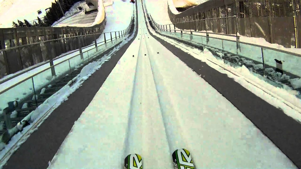 Go Pro Hero Hd Ski Jump Holmenkollen Oslo Plenty Km Hr On Launch Helmetcam Norway Youtube