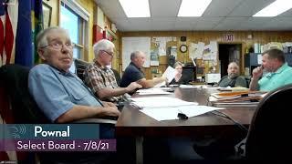 Pownal Select Board // 07/08/21