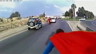 Super Heroes Having Fun and Causing Accidents in Malta  created by Testafilms