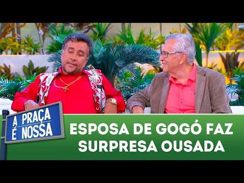 Esposa de Gogó faz surpresa ousada | A Praça é Nossa (21/06/18)
