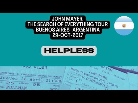 John Mayer - Helpless - Buenos Aires 29oct2017