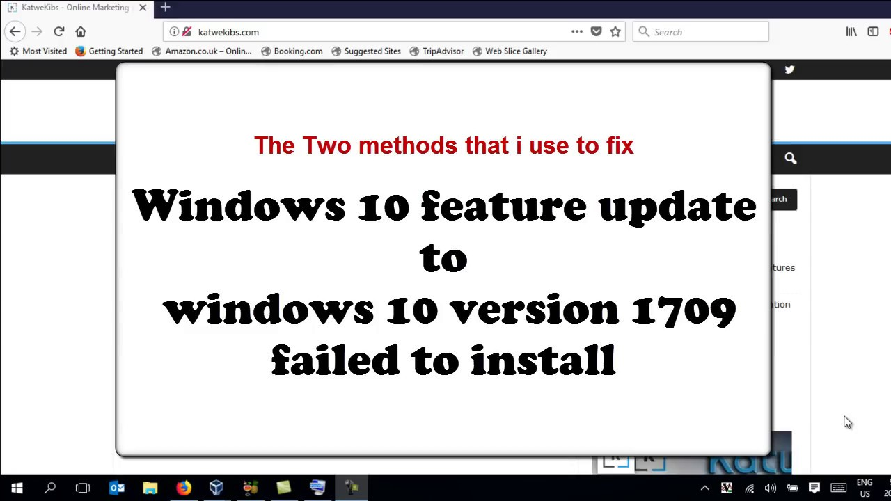 """How i fixed feature update to windows 10 version xxx failed to install"""""""