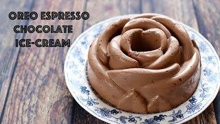 (no-churn) Giant OREO CHOCOLATE ICE-CREAM rose - Kem CHOCOLATE OREO ESPRESSO
