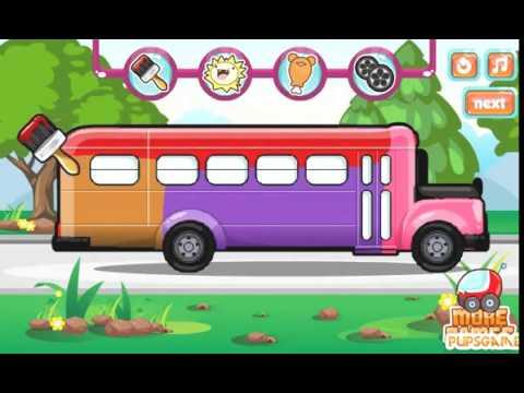 baby tv autobus scolaire au lavage de voiture jeux pour enfants youtube. Black Bedroom Furniture Sets. Home Design Ideas