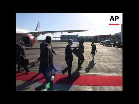 UN Sec Gen Ban Ki-moon arrives for Iraq conference