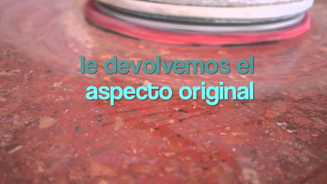 Quitar manchas de salfumant lej a y cidos en suelo de terrazo youtube - Sacar manchas de oxido del piso ...