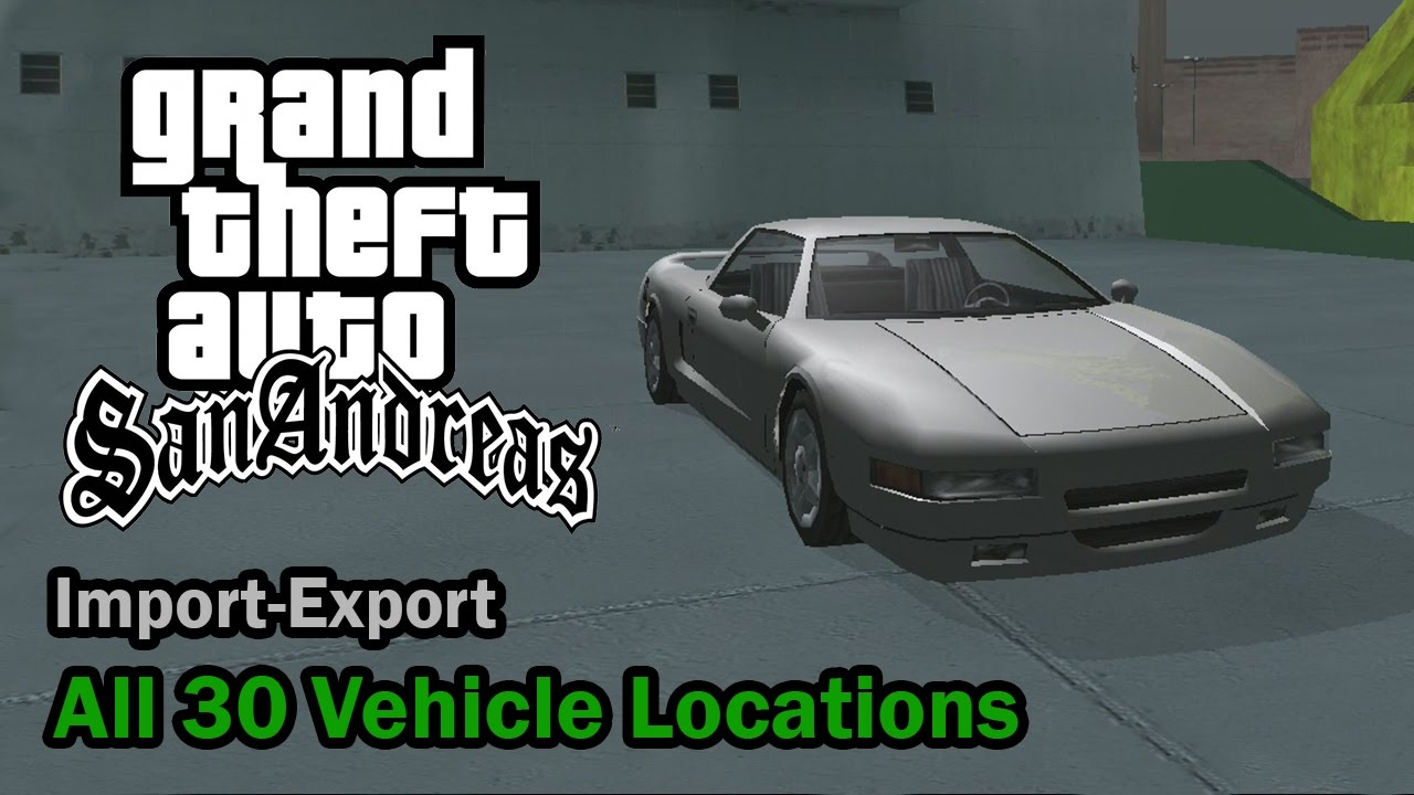 GTA San Andreas vehicles map