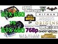 GTX 650 vs GTX 460 - 768p (1360x768) - Very Low/Medium Settings -