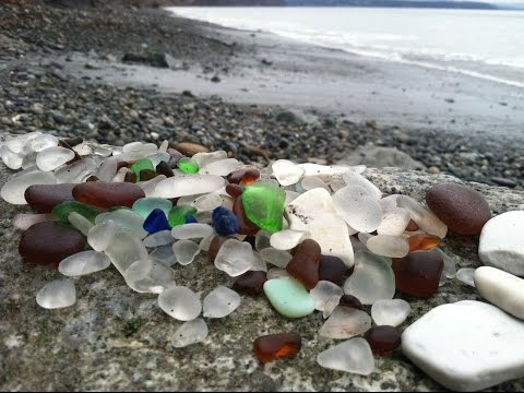Sea glass hunting on Glass Beach, Port Townsend, WA