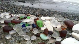 Sea glass hunting on Glass Beach, Port Townsend, WA