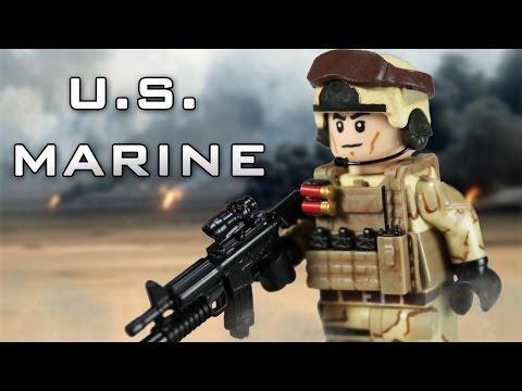 Custom LEGO U S  Marine - YouTube