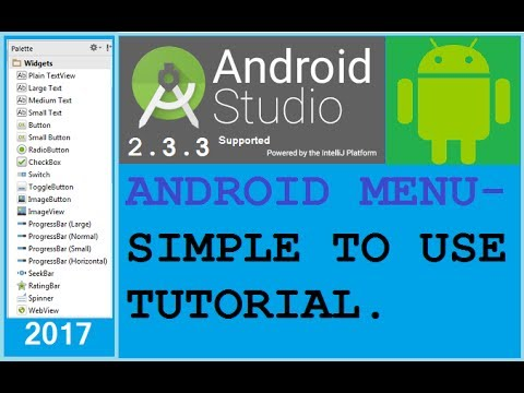 how to create menu in android studio