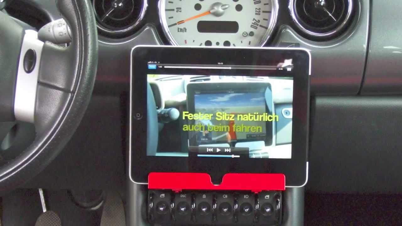 iPad / iPhone Halter BMW Mini und SMART fortwo - YouTube