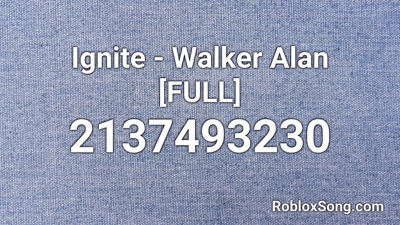 Alan Walker All Ids Songs Roblox Ignite Walker Alan Full Roblox Id Music Code Youtube