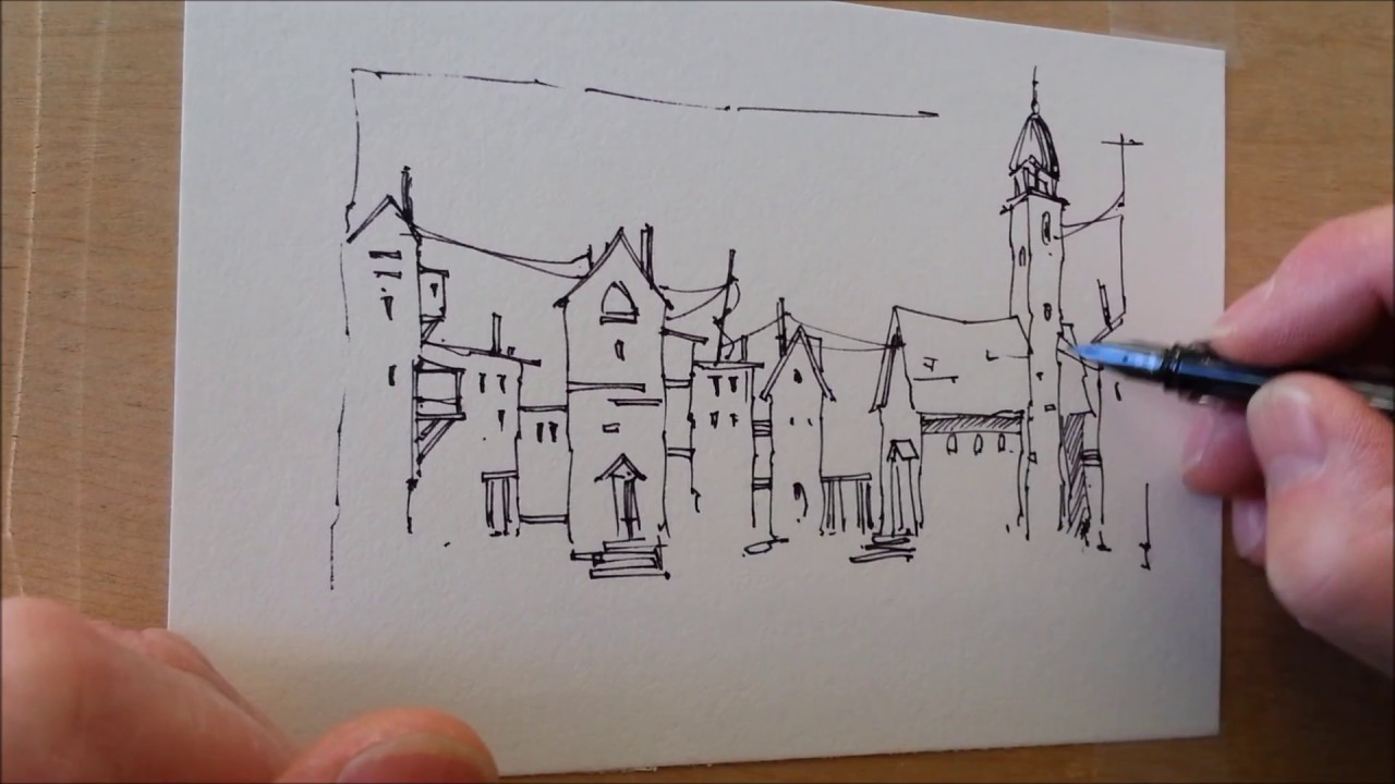 Simple pen sketch and test of a new portable Video taping setup