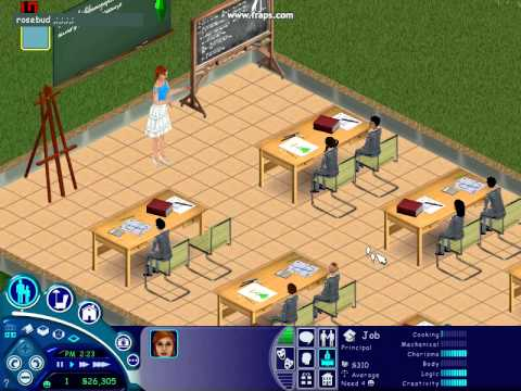 the sims 1 school youtube. Black Bedroom Furniture Sets. Home Design Ideas