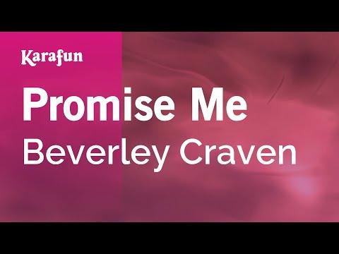 Karaoke Promise Me - Beverley Craven *