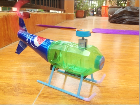 how to make helicopter with motor that fly at home