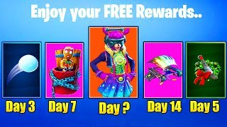 ALL 14 DAYS OF FORTNITE FREE REWARDS SEASON 7! HOW TO GET FREE SKINS IN FORTNITE SEASON 7!