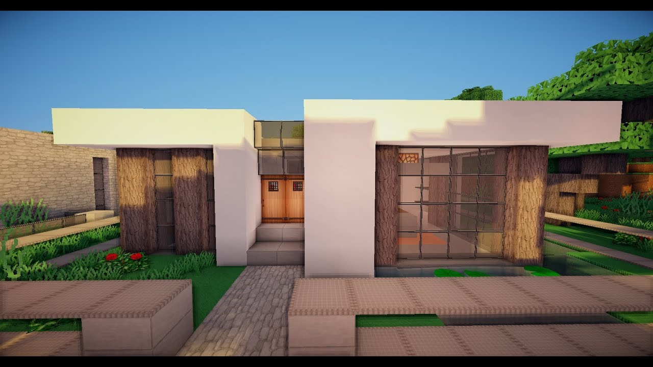 Free House Plan Moderner Minecraft Bungalow 3 Youtube
