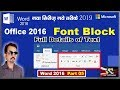 Font Block of Word 2016 | Full Details of Text in Hindi | |Part 05|