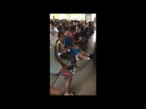 Christie Hsiao speaking at Kealakehe Elementary School