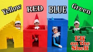 Building Lego Houses in Your Color!! Elf on Shelf Colors! Day 18!