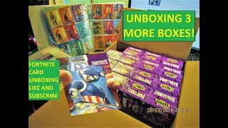 Fortnite cards Unboxing 3 more small boxes