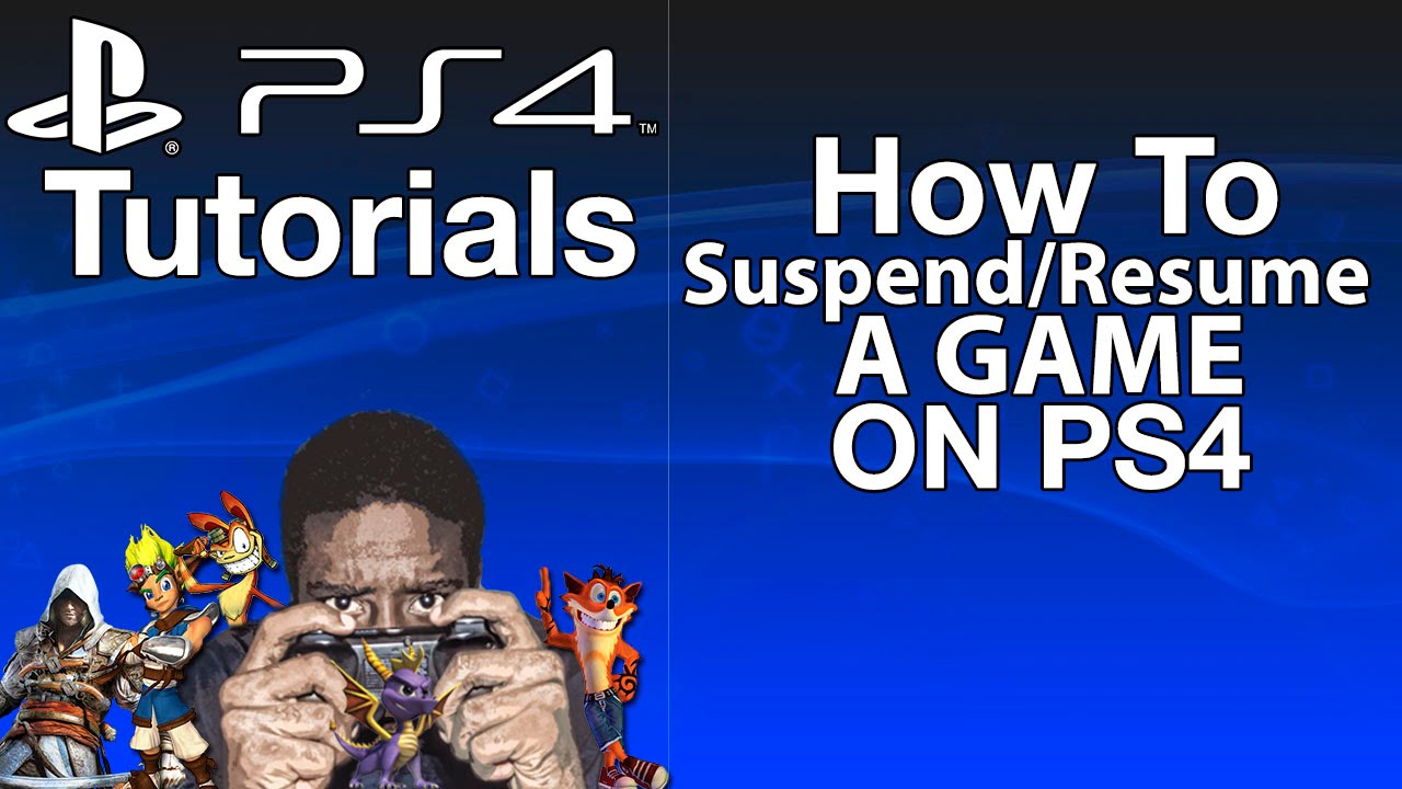 how to use suspend and resume on ps4 youtube
