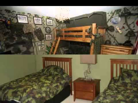 Army bedroom design decorating ideas - YouTube