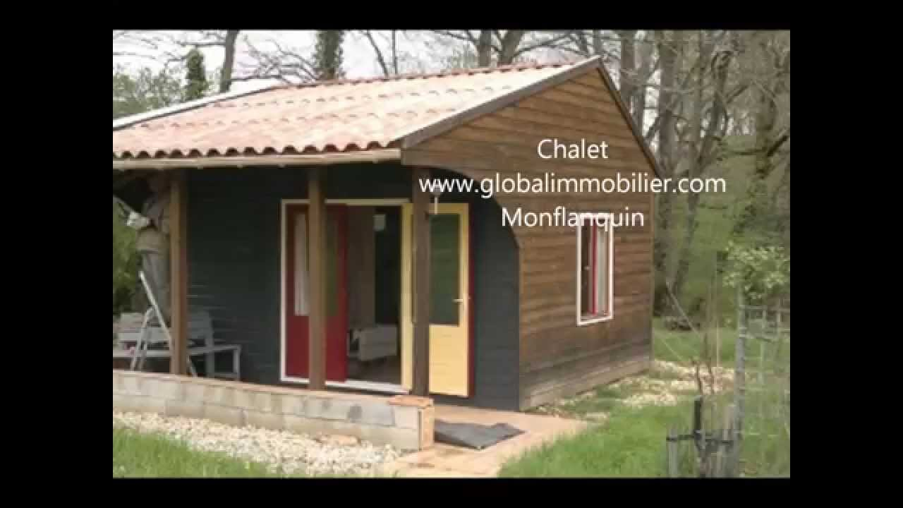 Wooden bungalow with chalet and mobil home perfect for for Mobil chalet