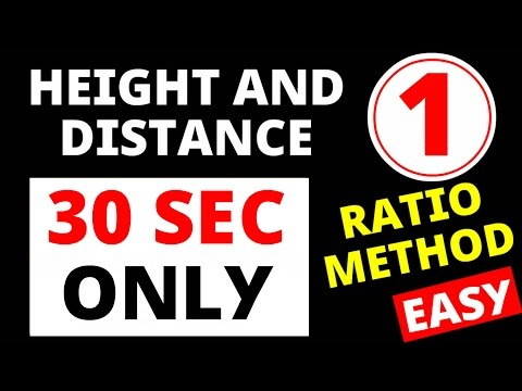 Height and Distance Part - 1 (Universal Short Trick ) for SSC Tier 1 and Tier 2 level (CPO , CHSL)