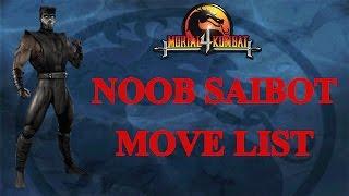 Mortal Kombat 4 - Noob Saibot Move List