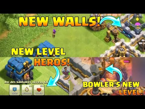 UPDATE LEAKED : NEW LEVEL 13 WALLS , NEW LEVEL HEROS , GOLEM & BOWLER'S NEW LEVEL  AND MORE