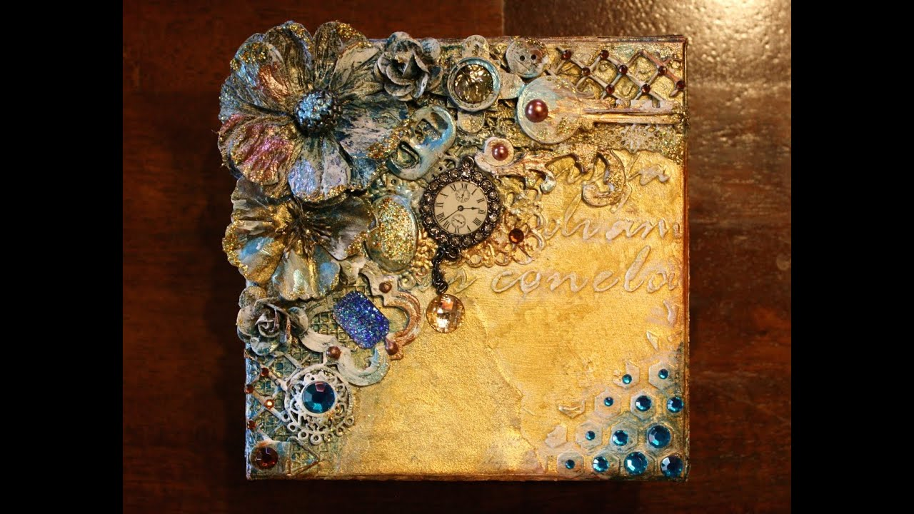 Mixed Media Steampunk Style Keepsake Box Youtube