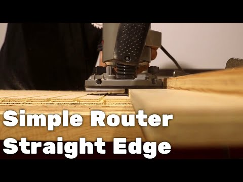 Simple Router Straight Edge Guide || DIY