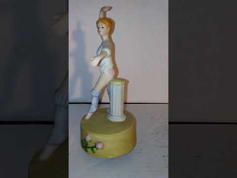 Ballerina Figurine Ceramic Wind Up Music Box