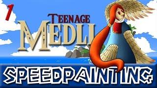 FU Speedpainting - Part 1 - Teenage Medli from Wind Waker