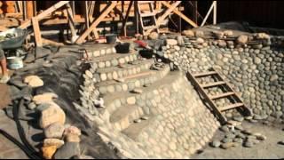 Как построить пруд своими руками(Размер этого пруда примерно 24м*12м*2м. Строили его 6-7 человек 1 месяц. В качестве гидроизоляции использовалась..., 2014-12-02T22:06:50.000Z)