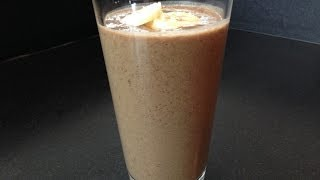 Chocolate Banana Post Workout Smoothie - HASfit Healthy Smoothie Recipes - Protein Smoothies
