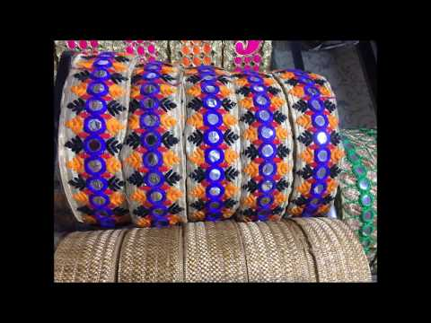 Surat Gujarat Wholesale trims, lace and embroidery fabric market