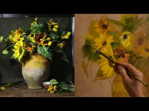 Painting the Sunflowers  with Elizabeth Robbins