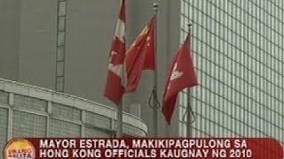 UB: Erap, makikipagpulong sa HK officials kaugnay ng Manila bus hostage crisis