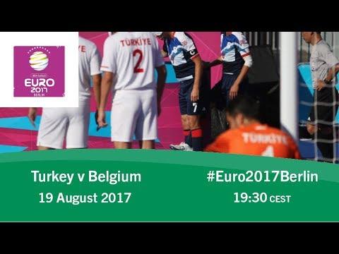 Turkey vs Belgium   IBSA Blind Football European Championships