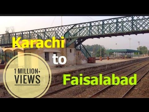 Karachi To Faisalabad - Railway Journey On Karakorum Express - Pakistan Railways (Full Version)