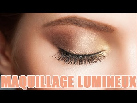 tuto maquillage yeux et visage lumineux pour un effet bonne mine youtube. Black Bedroom Furniture Sets. Home Design Ideas