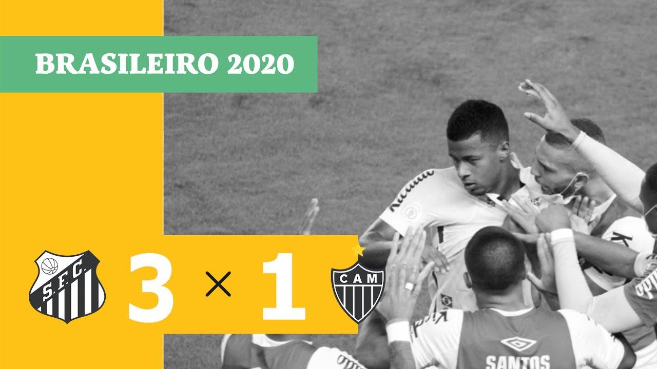 Сантос  3-1  Атлетико Минейро видео