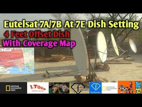 Eutelsat 7A/7B at 7°E Dish settings With Coverage Map and Chennal